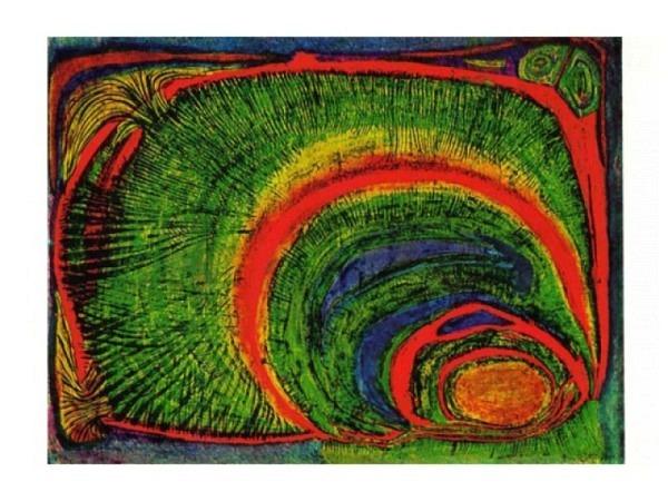 Postkarte Art Bula 10,5x14,5cm Schmetterling violetten Blume