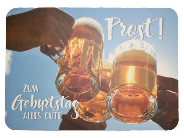 Postkarte Gollong zum Geburtstag, Bier, 10,5x14,8cm