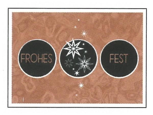 Postkarte Gollong Weihnachten A6 schwarze Kreise