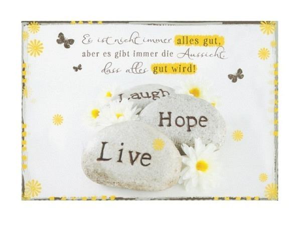 Postkarte Hartung InTouch 10,4x14,8cm Es ist nicht immer alles gut..