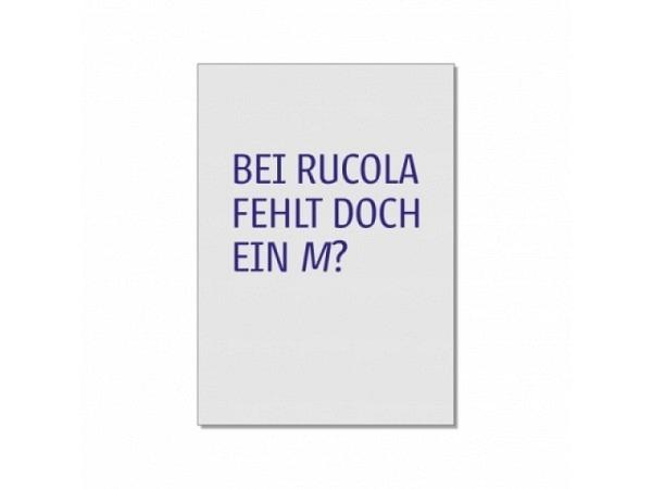 Postkarte 1730 Bei Rucola fehlt doch ein M? 10,5x14,8cm