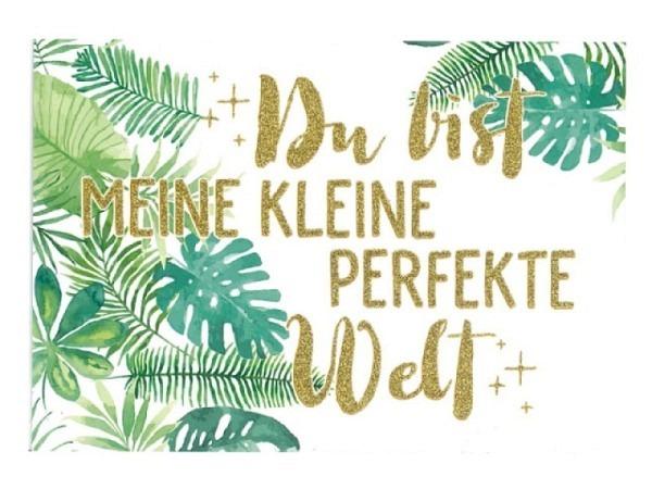 Postkarte Gollong A6, 10,5x14,8 cm, weiss bedruckt mit Text du bist ..