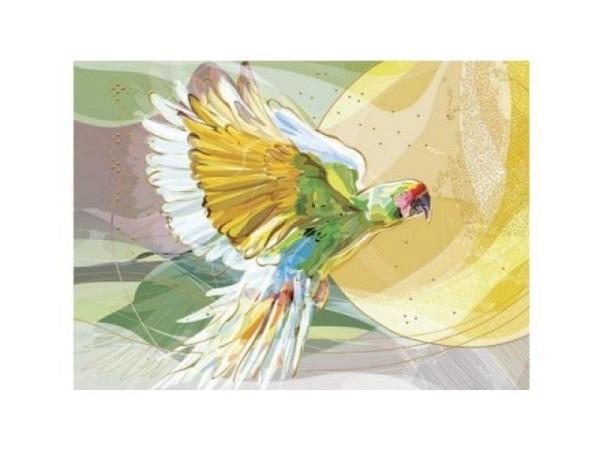 Postkarte Turnowsky 10,5x14,8cm fliegender Papagei