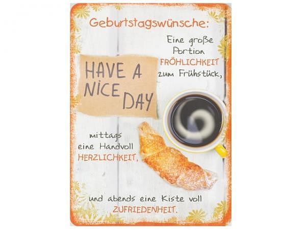 Postkarte Hartung InTouch 10,4x14,8cm Geburtstagskarte Have a nice Day