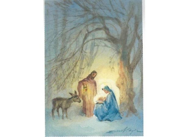 Postkarte Art Bula 10,5x14,8cm Maria, Josef, Jesuskind