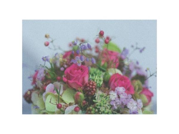 Postkarte Art Bula 10,5x14,8cm Blumenstrauss pink