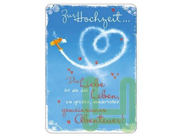 Postkarte Hartung InTouch 10,4x14,8cm, Zur Hochzeit.. Die Liebe ist wie das Leben, ein grosses, wund