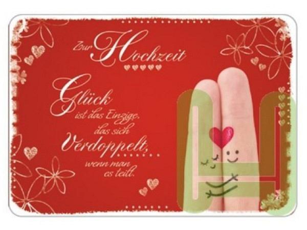 Postkarte Hartung InTouch 10,4x14,8cm, Zur Hochzeit. Glück ist das Einzige das sich verdoppelt, wenn