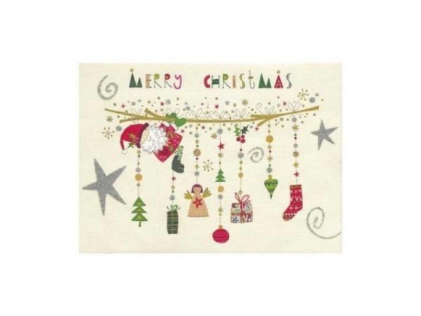 Postkarte Turnowsky Weihnachten Tannenbaum an Girlande