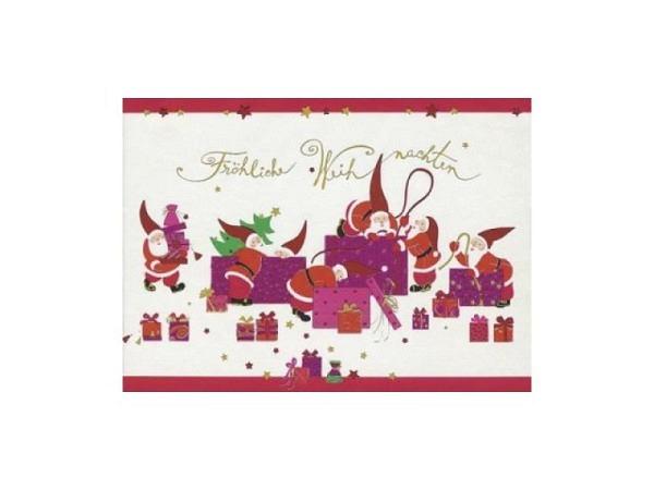 Postkarte Turnowsky Weihnachten Sterne Regenbogen