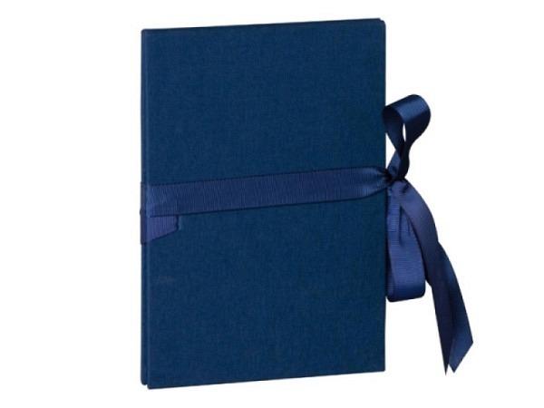Leporello Semikolon Classico 12x17,5cm marineblau