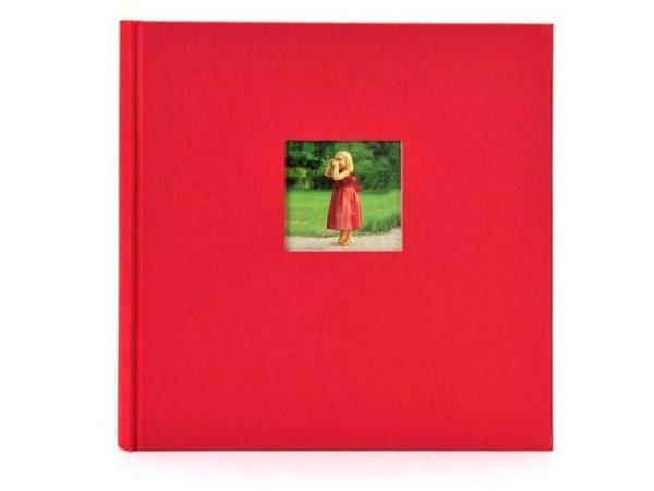 Fotoalbum Goldbuch Bella Vista gebunden rot Leinen