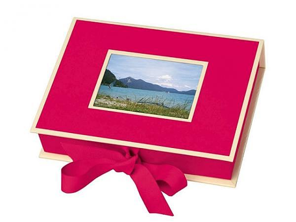 Fotobox Semikolon 19,5x14x4cm pink