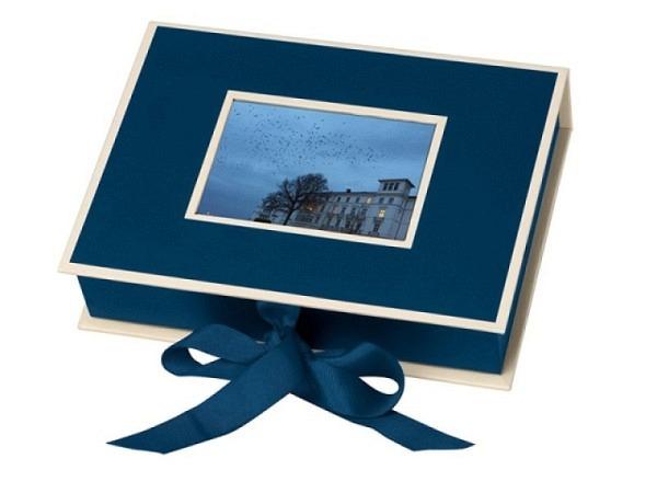 Fotobox Semikolon 19,5x14x4cm marineblau