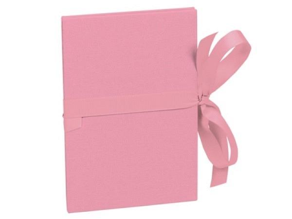 Leporello Semikolon Classico Flamingo 12x17,5cm rosa Deckel mit Leinenbezug