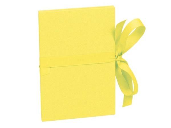 Leporello Semikolon Classico lemon 12x17,5cm gelb Deckel mit Leinenbezug