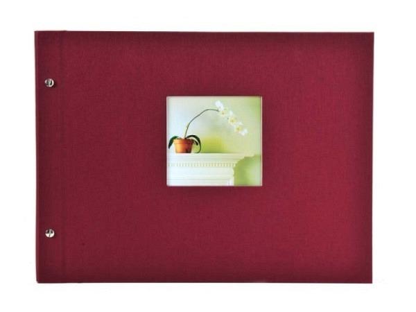 Fotoalbum Goldbuch Bella Vista Schraubalbum 39x31cm Black bordeaux