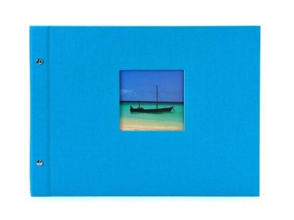 Fotoalbum Goldbuch Bella Vista Schraubalbum 39x31cm Black türkis