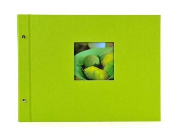 Fotoalbum Goldbuch Bella Vista Schraubalbum 39x31cm Black grün