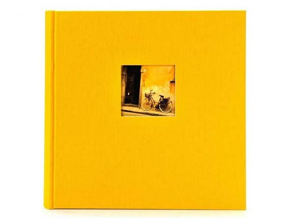 Fotoalbum Goldbuch Bella Vista gebunden gelber Leinen