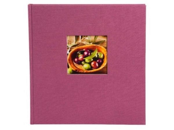 Fotoalbum Goldbuch Bella Vista gebunden 30x31cm aubergine