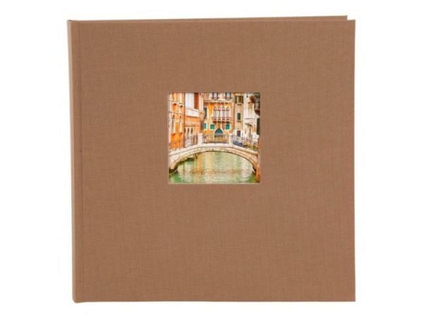 Fotoalbum Goldbuch Bella Vista Einsteckalbum gelb Leinen