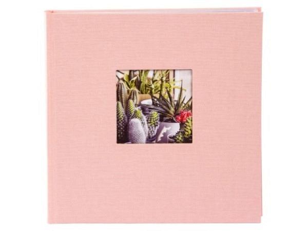 Fotoalbum Goldbuch Bella Vista Einsteckalbum pink Leinen