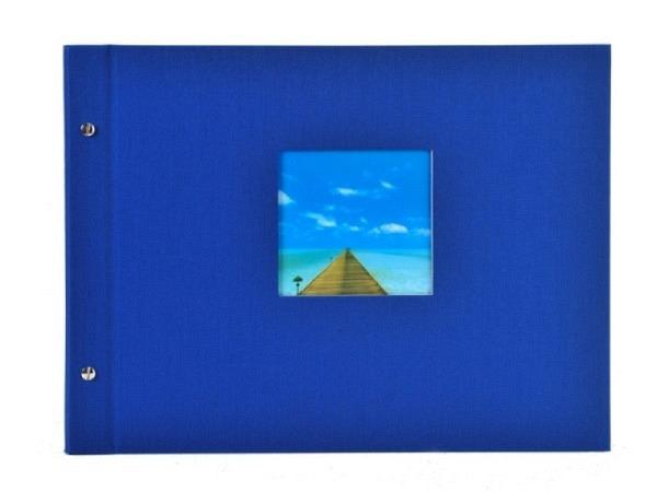 Fotoalbum Goldbuch Bella Vista Schraubalbum 39x31cm White blau