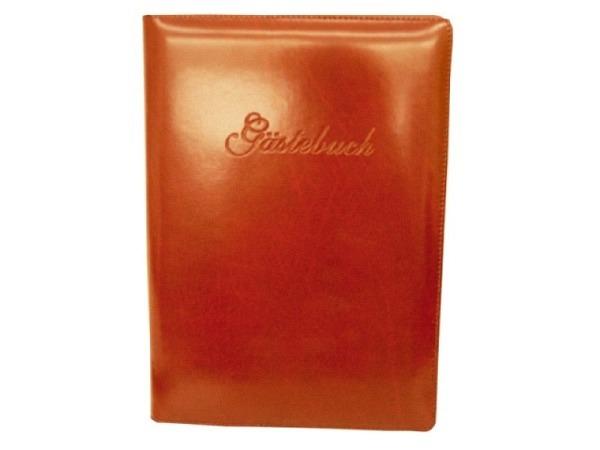 Gästebuch ASL Rindleder Manhattan A4 bodeaux, mit Prägung Gästebuch auf Deckel