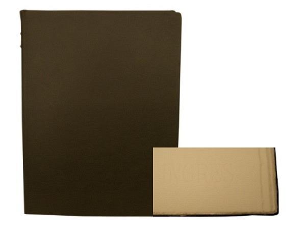 Gästebuch ASL Vollrindleder schwarz, Serie Royal, weisses Büttenpapier, 29x32cm
