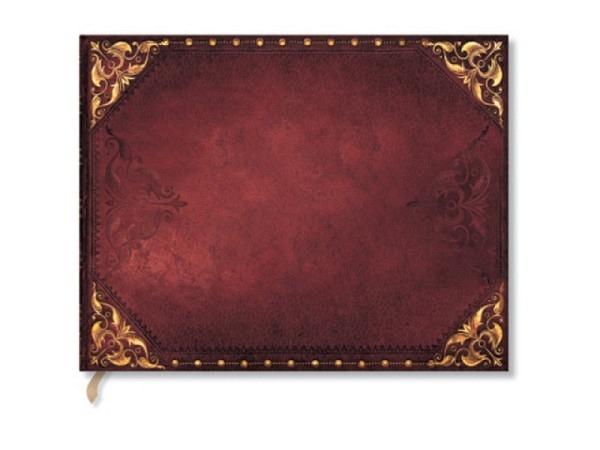 Gästebuch Paperblanks Silberfiligran Zartrosa 23x18cm