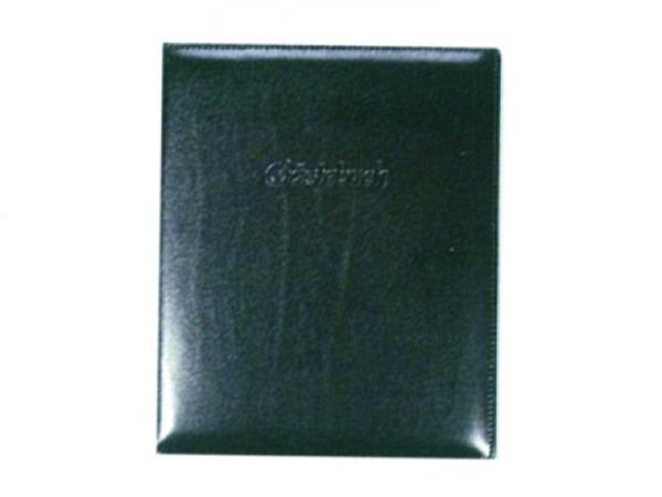 Gästebuch ASL Rindleder Manhattan glatt schwarz 21x25 cm, 96 Blatt naturweiss unliniert, ohne Prägung auf Deckel