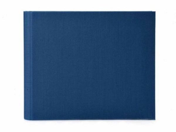 Gästebuch Goldbuch Linum blau 29x23cm mit 50 weissen Seiten 210g/qm, mit verdeckter Spiralbindung, in Kartonumband mit Leinenbezug, Silberprägung Gäste