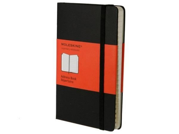 Adressbuch Moleskine A5 (13x21cm) mit Register 240Seiten