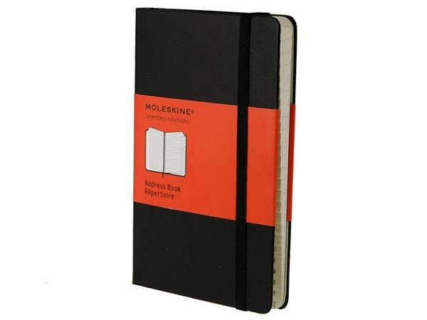 Adressbuch Moleskine A6 (9,5x14,2cm) mit Register