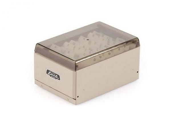 Visitenkartenbox Penco Filing Cabinet grau 14,5x9,5x7,5cm
