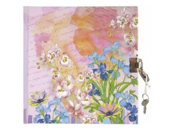 Tagebuch Artoz Jardin 16x16cm, mit Schloss