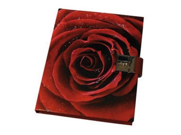 Tagebuch arsEdition Rose rot, 16x19cm, wattierter Einband