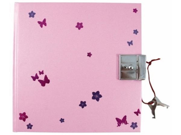 Tagebuch Artoz Summer by pink 16x16cm, rosa, Schmetterlinge