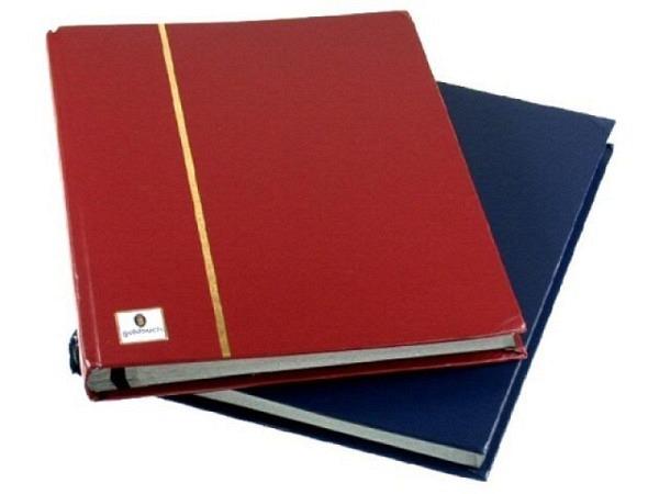 Briefmarkenalbum Goldbuch 23x30cm, assortiert, rot oder blau