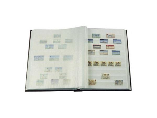 Briefmarkenalbum Leuchtturm Basic W16 17x22,5cm schwarz