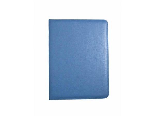 Blockmappe ASL Matrix Kunstleder blau, mit einem A4-Block auf der rechten Seite, 2 Stiftschlaufen
