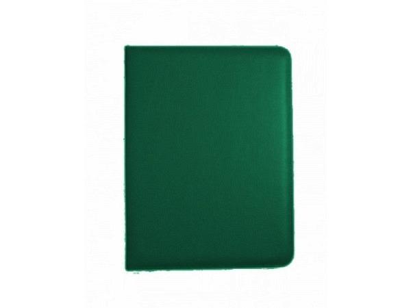 Blockmappe I Kunstleder schwarz, mit Reissverschluss, mit einem A4-Block und Schreibgerätehalterung auf der rechten Seite