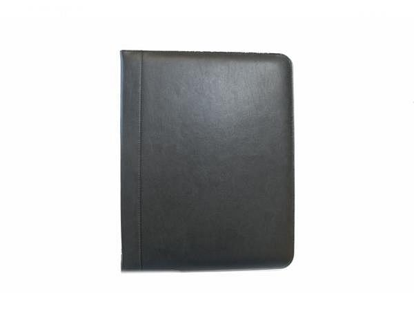 Konferenzmappe ASL Basic schwarz aus glattem Rindleder, mit herausnehmbarer 4-Ring Mechanik, Platz f