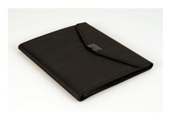 Konferenzmappe Dufco Soft Touch schwarz A4