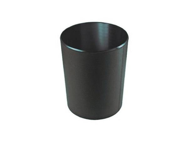 Papierkorb ASL schwarz, Kunststoff mit Lederfaser überzogen