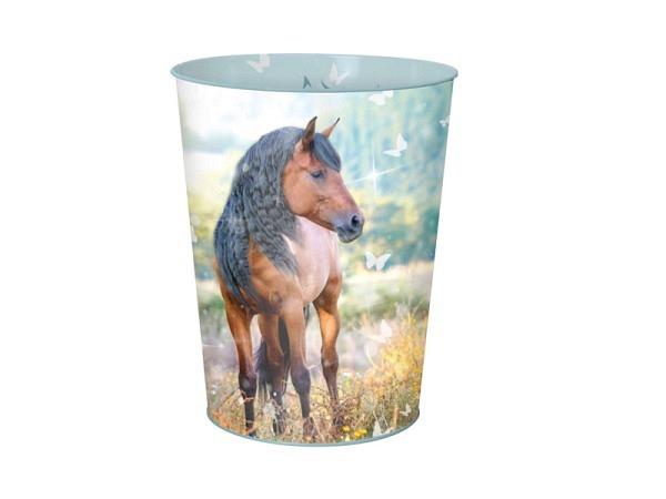 Papierkorb Oberthur Metal Pferd, Pferd galoppiert über Wiese