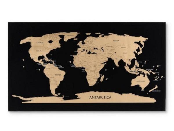 Landkarte Scratch Map 80x45cm