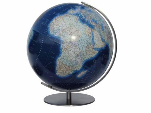 Globus Columbus Duo Azzurro Durchmesser 40cm Edelstahl-Fuss