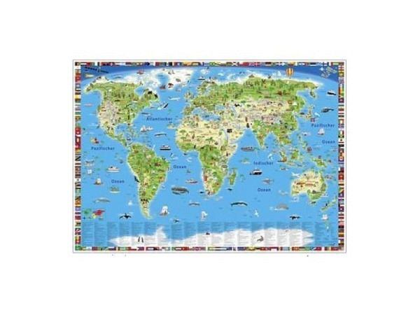 Landkarte Hallwag Kümmerly+Frei Kinderweltkarte 138x98cm